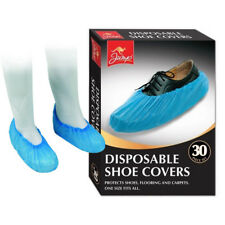 30 Disposable Shoe Covers Overshoes Protect Boots Carpet Floor Elasticated Cover