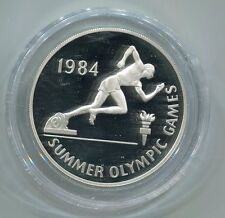 Jamaica 10 Dollars Sommerolympiade 1984 Silber PP (M1431)