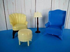 Vintage Renewal/Marx Dollhouse Living Room Furniture-4 Pieces