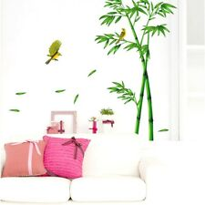 Green Bamboo Forest Depths Wall Sticker Chinese Style Decors DIY Tree Home