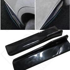 "2PCS 45cm/17.71"" Black Side Skirt Body Kit Rocker Panels Splitters Winglet Wings"