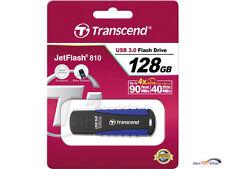 Transcend JetFlash 810 128 GB USB 3.0 Stick TS128GJF810 128GB schwarz/blau OVP