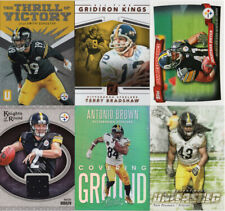 PITTSBURGH STEELERS Lot of 10 Football cards, includes Jersey & Rookies