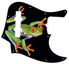 J Bass Pickguard Custom Fender Graphic Graphical Guitar Pick Guard Tree Frog