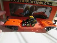 Lionel 6-16958 Flatcar with Ertl New Holland Loader, original box.