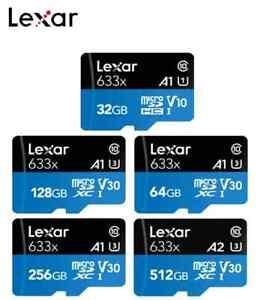 Lexar Micro SD Card 16GB 32GB 64GB 128GB 512GB 633x