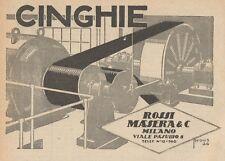 Z1510 Cinghie ROSSI MASERA & C. - Milano - Pubblicità d'epoca - 1927 Old advert
