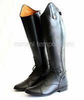 Stivali da equitazione in pelle con cerniera posteriore