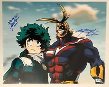 Chris Sabat Justin Briner SIGNED 16x20 Photo My Hero Academia BECKETT COA