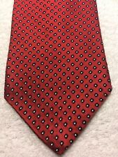TOMMY HILFIGER MENS TIE RED WITH BLACK AND WHITE 3.5 X 60