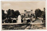 Ansichtskarte Potsdam - Schloss Sanssouci - Orangerie mit großer Fontäne - s/w