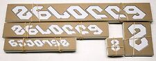 Genuine NOS Serotta Ultra Thin Bike Frame Decals OEM White / Black Stickers