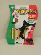 Trucco tricolore per viso tifo Italia verde bianco rosso stadio T336