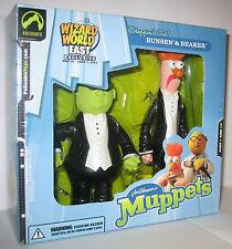The Muppet Show Steppin' Out Bunsen & Beaker Palisades Figure Wizard World MISB