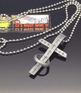 UNISEX GOTHIC GUN Metal CROSS CRUCIFIX PENDANT Charm Necklace Silver Ball Chain