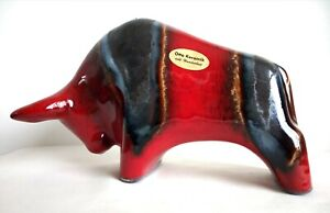 Otto Keramik - Retro German Fat Lava Ceramic Bull