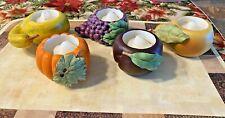 Partylite Vintage Harv 00006000 est Medley Porcelain Votive Candle Holders - Original Box