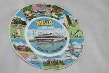 Vintage Bob-Lo Island Amusement Park Souvenir Plate Detroit Michigan 9