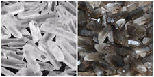 Wholesale 500 Carat Lot Mixed Smokey & Quartz Crystal Natural Clear Points Smoky