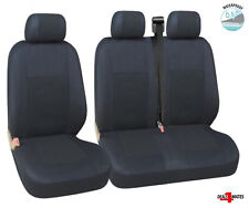 Vw Transporter T5 T4 Caravelle Waterproof Black Quality Fabric Van Seat Covers