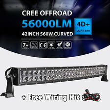 """New listing 42""""Inch 560W Curved Led Light Bar Spot Flood Offroad Fit For Dodge Ram 1500 2500"""