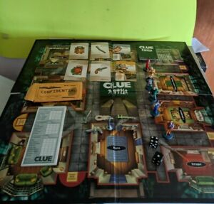 2002 Clue Board Game Replacement Parts Weapons Cards Rope Gun Wrench Pipe Token