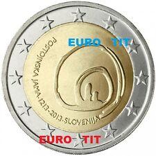 2 € SLOVENIE COMMEMORATIVE  2013   1  X  PIECE  GROTTE DE  POSTOJNA   disponible