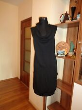 WHITE LABEL MARY DEPP BLACK KNITTED WOOL BLEND SLEEVLESS TUNIC DRESS-SIZE 42IT