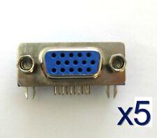 5x Connecteur à souder HD15 VGA femelle/ 5x Female VGA 15 pins connector to weld