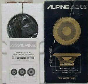 """RARE ALPINE CAR SPEAKERS 6-1/2"""" MID-WOOFER 180 WATTS 4 OHMS MADE IN JAPAN 6061EX"""