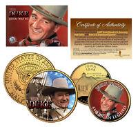JOHN WAYNE Iowa Quarter & JFK Half Dollar U.S. 2-Coin Set *OFFICIALLY LICENSED*