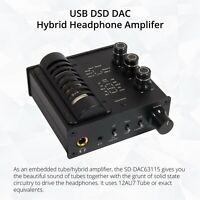 128 DSD 384 kHz 32 bit DAC Hybrid Tube Headphone Amp Pre-Amp Tri Tone Controller