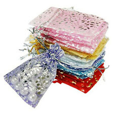 25x Organza Jewelry Wedding Gift Pouch Bags 7x9cm/3x4Inch Mix Color O8D1