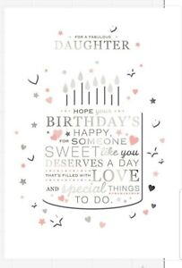 Hallmark Daughter Birthday Card - For a Fabulous Daughter