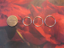 Gold  Small Medium and Large14, 16 & 18mm  Endless Hoops Nose Ring Earrings