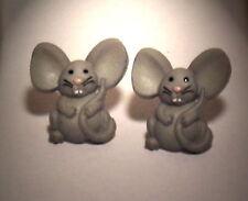 Ohrstecker Maus Tiere Grau Kunststoff Damen Ohrringe Ohrschmuck Modeschmuck