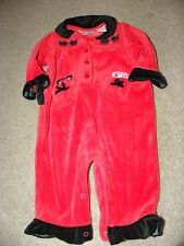 Specialty Baby Infant Toddler Girls Red Scotty Puppy One Piece Outfit 6 9 months