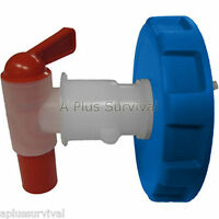 Water Brick Ventless Spigot with Blue Lid Gasket & Nut for WaterBrick Containers