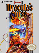 CASTLEVANIA III THREE 3 with cosmetic flaws DRACULA'S CURSE NINTENDO NES HQ