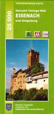 Wanderkarte Eisenach und Umgebung im Naturpark Thüringer Wald / WK 1:25 000