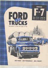 1952 Ford F7 Truck Brochure wu0375