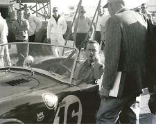 Vintage 8 x 10 Auto Racing Photo 1963 Sebring Cobra, Phil Hill Sitting in Car