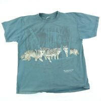 Vintage National Zoo Wolf Graphic T-Shirt Men's Size XL Gray Washington D.C. USA