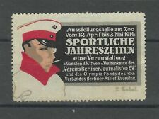 Germany 1914 red and black vignette  for Sport and olympics unused