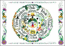 Wheel of the Year A4 wallchart poster planner calendar pagan wicca gardening