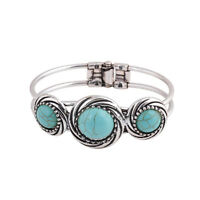 Charm Fashion Women Natural Turquoise Cuff Wristband Bangle Bracelet Jewelry  MW