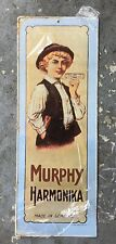 Vtg 1974 Murphy Harmonica Tin Sign NOS Music Instrument Vintage Reproduction