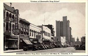 PC Eckerd's Modern Drug Store and Street Scene Columbia, South Carolina~139195