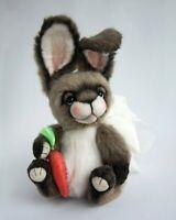 Marta.artsToy OOAK New artist teddy bunny Casper handmade collectible toy