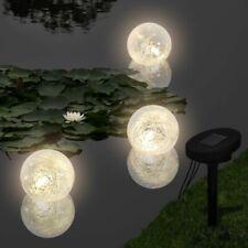 vidaXL 3x Lampada Gallegiante Solare LED Luce Laghetto Lumino Lanterna Piscina